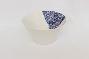 petit saladier porcelaine imprimé bleu