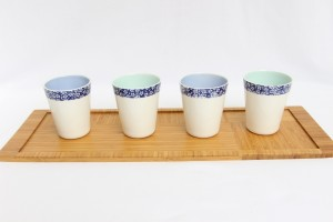 tasses liberty bleues porcelaine